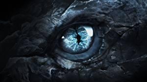 Обои Глаза Дракон Вблизи Игра престолов (телесериал) Фэнтези Фильмы