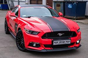 Фото Форд Красная Mustang GTR машины