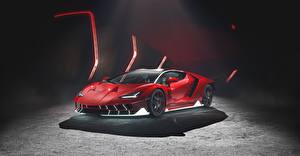 Обои для рабочего стола Lamborghini Красная Centenario авто