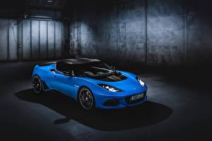Обои Лотус Голубых 2018-19 Evora GT410 Sport Автомобили
