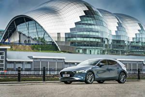 Картинка Mazda Серый Металлик 2019 Mazda3 Skyactiv-G Hatchback автомобиль