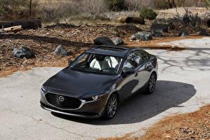 Обои Mazda Черных Металлик Седан 2020 Mazda3 Автомобили