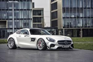 Фотография Mercedes-Benz Белый Купе AMG Prior-Design C190 PD800GT GT-Class