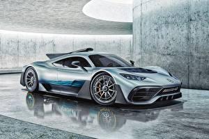 Фотография Mercedes-Benz Сбоку Concept AMG Project ONE Автомобили