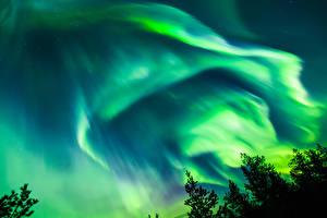 Фотографии Норвегия Небо Ночь Полярное сияние Природа