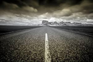 Фото Дороги Исландия Асфальта