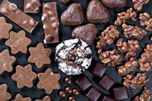 Фото Сладости Печенье Конфеты Шоколад