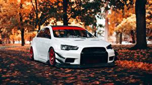 Фотография Стайлинг Осень Mitsubishi Белые Lancer Evolution X