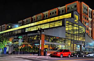 Фотография Штаты Здания Вашингтон Улице Ночные Navy Yards