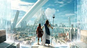 Обои для рабочего стола Assassin's Creed Odyssey Трезубца Judgment of Atlantis Игры