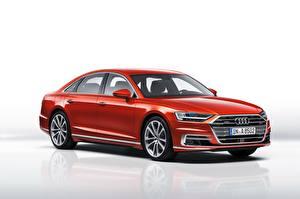 Фотография Audi Красный Металлик A8, 50 TDI quattro Worldwide Автомобили