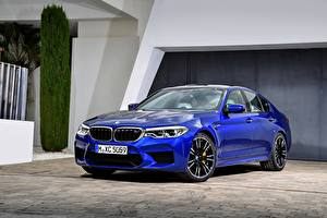 Фото BMW Синие Седан 2017 M5 F90 авто