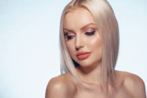 Картинки Блондинки Мейкап Лица Прически девушка