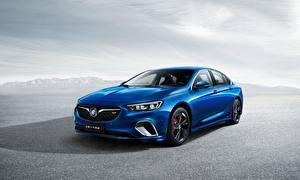 Картинки Бьюик Синяя Металлик Regal GS 2017 авто