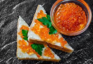 Картинки Бутерброды Икра 2 Продукты питания