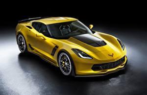 Фотография Шевроле Желтый Металлик Купе Z06, Corvette авто