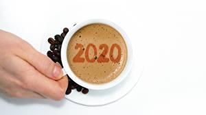 Фотография Новый год Кофе Чашка 2020 Еда