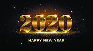 Обои Новый год Серый фон 2020 Английский