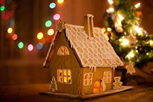 Фотография Новый год Выпечка Дома Печенье Дизайн Еда