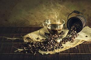 Фото Кофе Текстиль Зерна Чашке Пары Еда