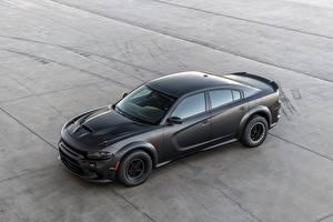 Фото Додж Черная Charger, AWD 2019 SpeedKore, Twin Turbo Carbon авто