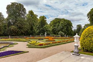 Обои Англия Сады Дизайна Газон Waddesdon Manor Природа