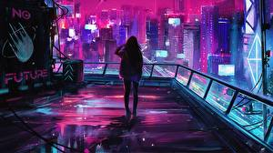 Фотография Фантастический мир Здания Мегаполис 2019, by Alena Aenami, Endgame Streetwear Фэнтези