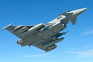 Фотографии Истребители Ракета Летящий Eurofighter Typhoon