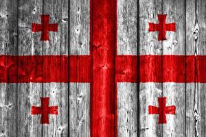 Фотография Грузия Флага Крест