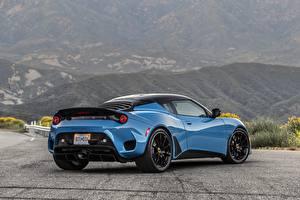 Обои Lotus Сзади Голубой Металлик 2020, USA version, Evora GT авто