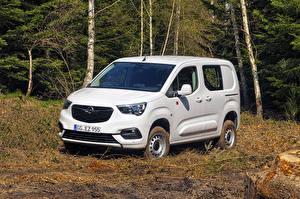 Обои Опель Минивэн Белые 2019 Combo Cargo 4×4 автомобиль