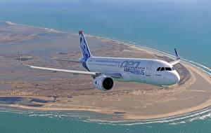 Обои Пассажирские Самолеты Airbus Полет A320 Авиация