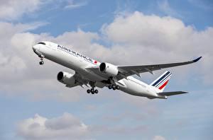 Картинка Пассажирские Самолеты Airbus Air France, A350-900