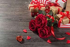 Фото Розы День святого Валентина Подарков Цветы