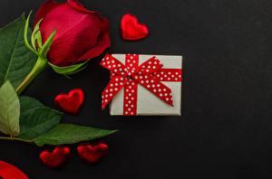 Фотография Роза День всех влюблённых Подарки Сердце цветок