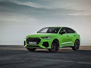 Картинка Ауди Зеленая Металлик CUV Sportback, 2020, RS Q3 авто