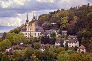 Фотография Осенние Германия Церковь Wurzburg The Käppele город