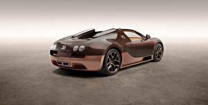 Обои для рабочего стола BUGATTI Коричневые Углепластик Родстер Veyron, Grand Sport, Vitesse, Rembrandt Bugatti 2014 авто