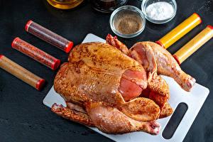 Картинка Курица Специи Разделочная доска Еда