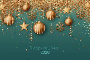 Обои Рождество Шар Снежинка Звездочки Слова Английская 2020