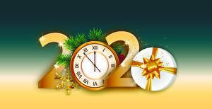 Картинки Рождество Часы 2020 Подарки Снежинки