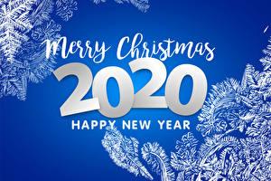 Обои Рождество Цветной фон Слова Английский 2020 Снежинка
