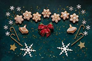 Фотография Рождество Печенье Снежинка Бантики