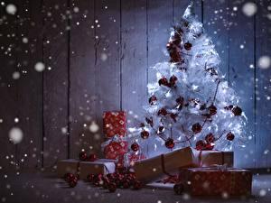 Фотография Новый год Праздники Новогодняя ёлка Подарки Шарики