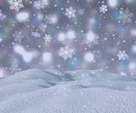 Картинка Рождество Снега Снежинка