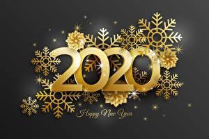 Фотография Новый год Снежинка Золотой Слова Инглийские 2020