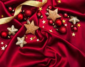Картинки Рождество Звездочки Шар Текстиль