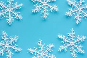 Фотографии Новый год Шаблон поздравительной открытки Снежинка