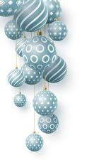 Картинки Рождество Белом фоне Шар
