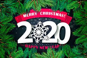 Фотографии Рождество Слова 2020 Английская Ветвь Снежинка